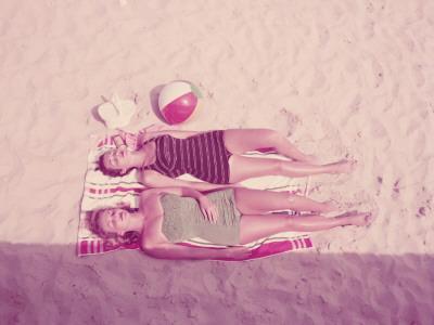 Women Sunbathing - Photographic Print
