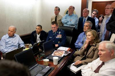President Obama before statement to the media of the mission against Osama bin Laden, May 1, 2011 - Photographic Print
