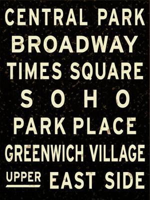 New York City Sign - Giclee Print