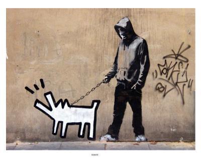 Dog Walker - Art Print