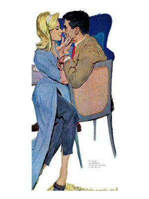 """Marriage Mood - Saturday Evening Post """"Leading Ladies"""", March 5, 1960 pg.25 - Giclee Print"""
