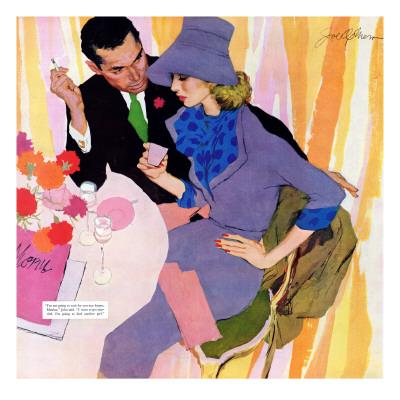 "Marriage Is Not For Me  - Saturday Evening Post ""Leading Ladies"", June 15, 1957 pg.40 - Stretched Canvas Print"