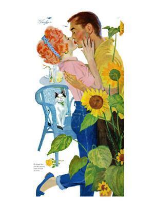 "Love Struck - Saturday Evening Post ""Leading Ladies"", April 25, 1959 pg.37 - Giclee Print"