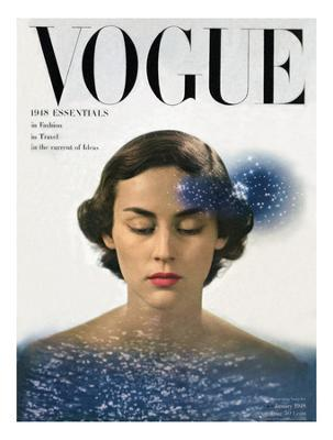 Vogue Cover - January 1948 - Giclee Print