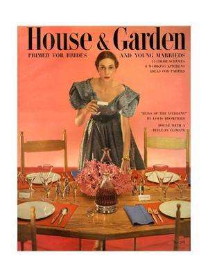 House & Garden Cover - May 1951 - Giclee Print