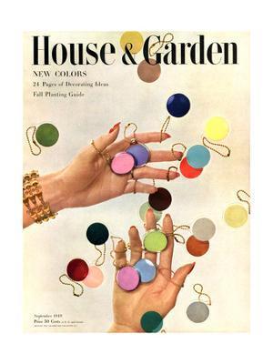 House & Garden Cover - September 1949 - Giclee Print