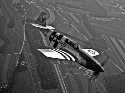 A P-51C Mustang in Flight - Photographic Print