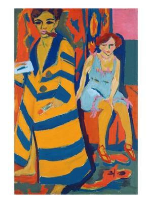 Self Portrait with a Model - Giclee Print