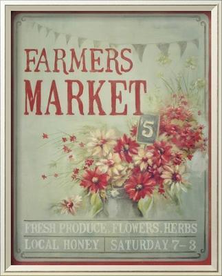 Market Flowers - Framed Art Print