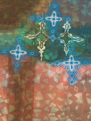 Diamond Pattern II - Stretched Canvas Print