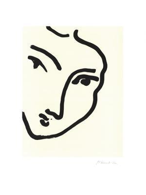Femme II (Nadia au menton) - Art Print