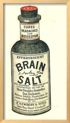 Brain Salt Headaches Humour Medicine, UK, 1890 - Framed Art Print