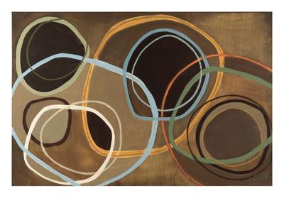 14 Friday II - Brown Circle Abstract - Giclee Print