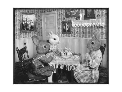 Bunny Tea Party - Premium Giclee Print