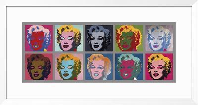 Ten Marilyns, c.1967 - Framed Giclee Print