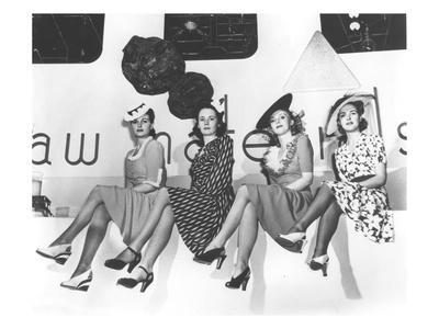 Nylon Publicity Photo, New York World's Fair, 1939 (B/W Photo) - Giclee Print