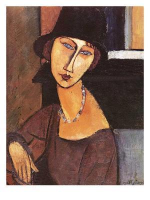 Jeanne Hebuterne Wearing a Hat, 1917 - Giclee Print