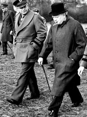 Eisenhower Churchill - Photographic Print