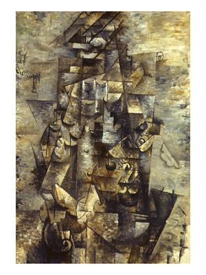 Braque: Man with a Guitar - Giclee Print