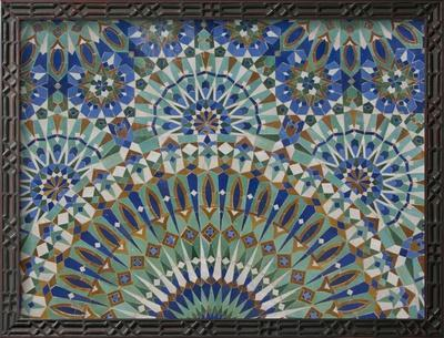 Close-Up of Mosaics in Hassan Ii Mosque, Casablanca, Morocco - Framed Photographic Print