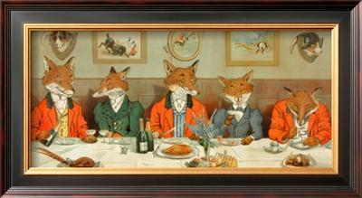 Mr. Fox's Hunt Breakfast - Framed Art Print
