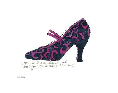 A La Recherche du Shoe Perdu, 1955 (Blue & Pink Shoe) - Art Print