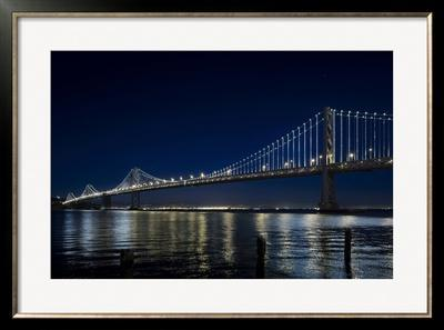The Bay Lights - San Francisco Bay Bridge, Photograph by James Ewing - Limited Edition Framed Print