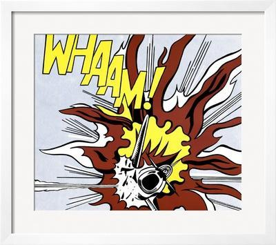 Whaam! (panel 2 of 2) - Framed Art Print
