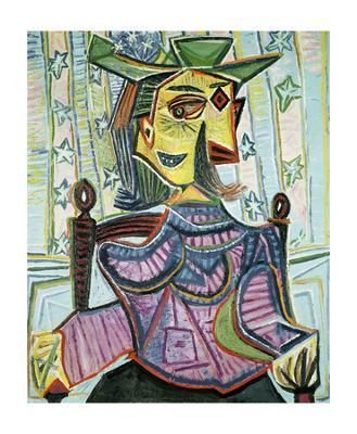 Seated Portrait of Dora Maar - Art Print