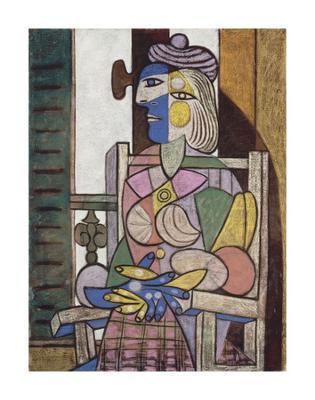 Femme assise devant la fenetre - Art Print