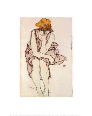 Seated Young Lady - Art Print