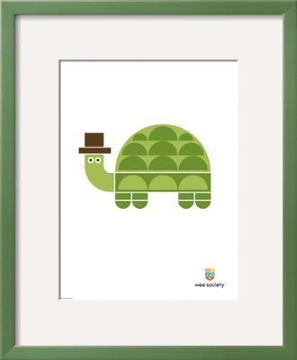 Wee Alphas, Tobias the Turtle - Framed Art Print