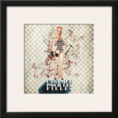 C'Est Que Pour les Filles (Only for Girls) - Framed Art Print