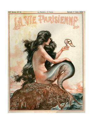 1920s France La Vie Parisienne Magazine Cover - Giclee Print