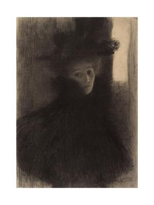 Portrait of a Lady with Cape and Hat - Giclee Print