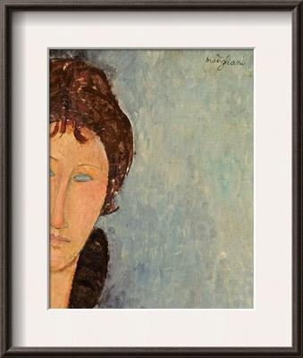 Woman with Blue Eyes, C.1918 - Framed Art Print