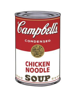 Campbell's Soup I: Chicken Noodle, 1968 - Art Print