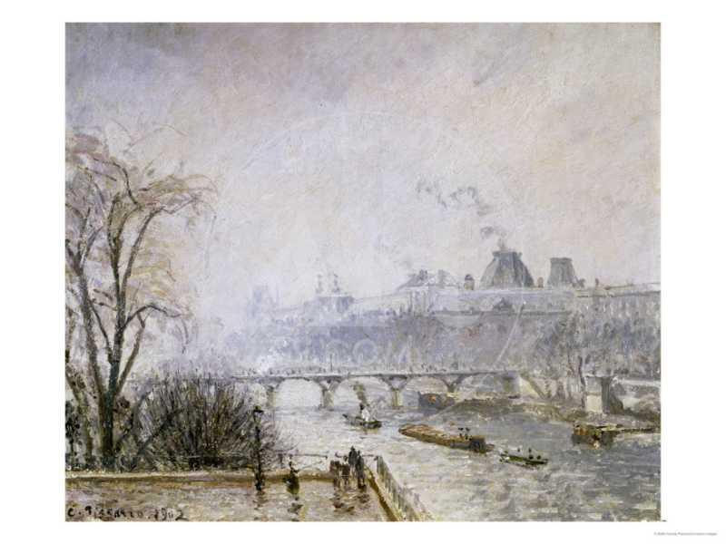 The Louvre and the Seine from the Pont Neuf, Morning Mist, 1902