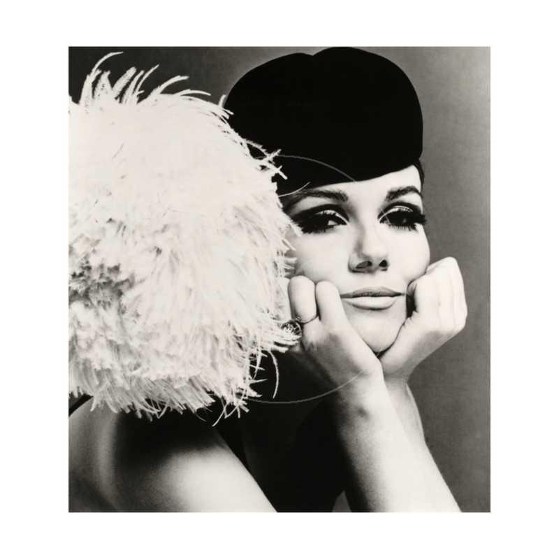 Nicole de la Marge in a Peter Shepherd Velvet Cap, 1965