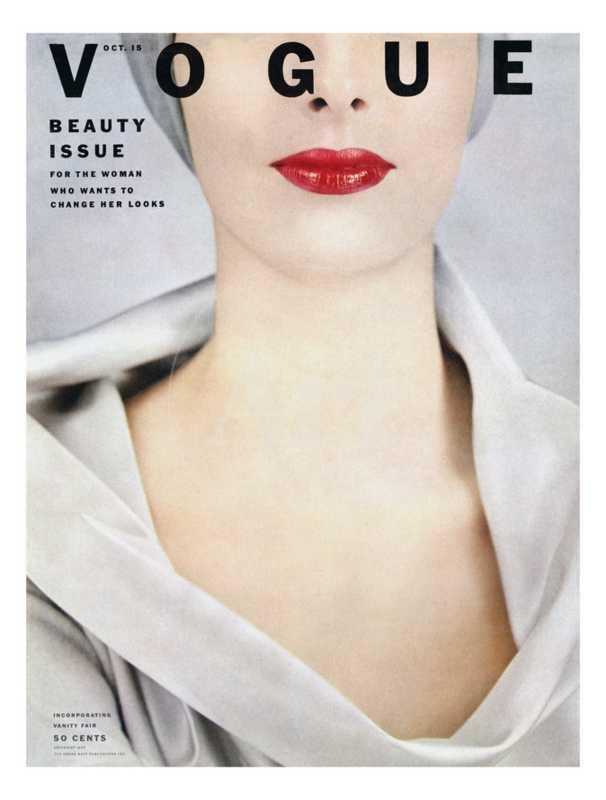 Vogue Cover - October 1952 - Pop of Red