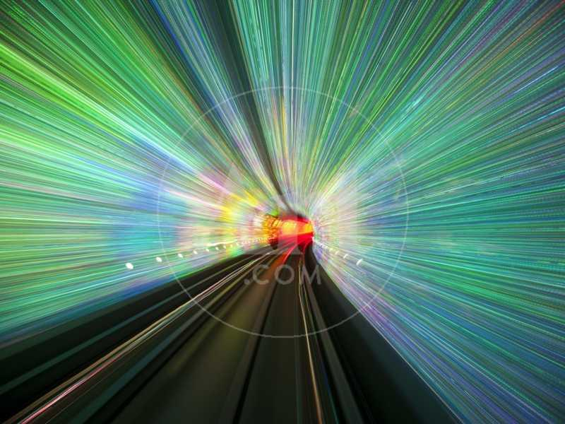 Bund Sightseeing Tunnel lights