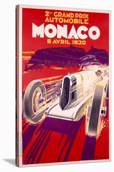 1930 Monaco Grand Prix-Archivea Arts-Stretched Canvas Print