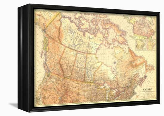 1936 Canada-National Geographic Maps-Framed Canvas Print