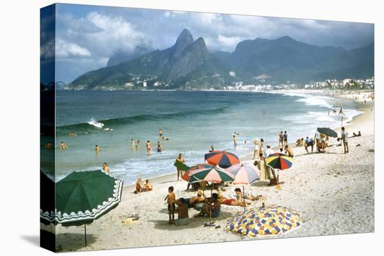 1957: Copacabana Beach, Rio De Janeiro, Brazil-Dmitri Kessel-Stretched Canvas Print