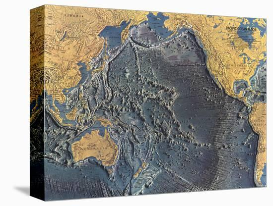 1969 Pacific Ocean Floor Map-National Geographic Maps-Stretched Canvas Print