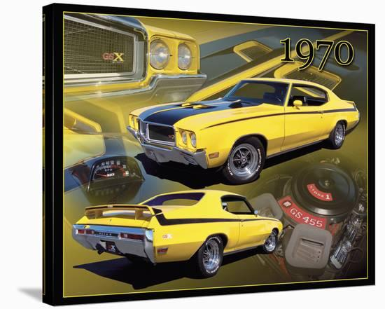 1970 Buick GSX--Stretched Canvas Print