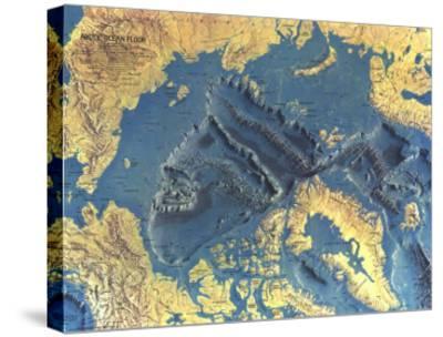 1971 Arctic Ocean Floor Map Art Print
