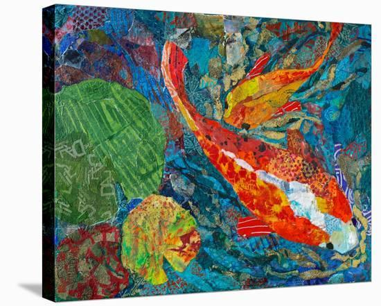 2 Koi--Stretched Canvas Print