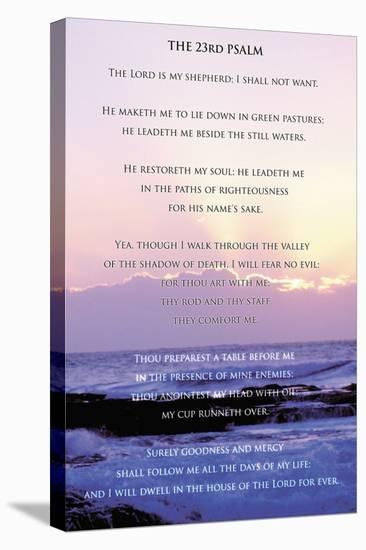 23rd Psalm--Stretched Canvas Print