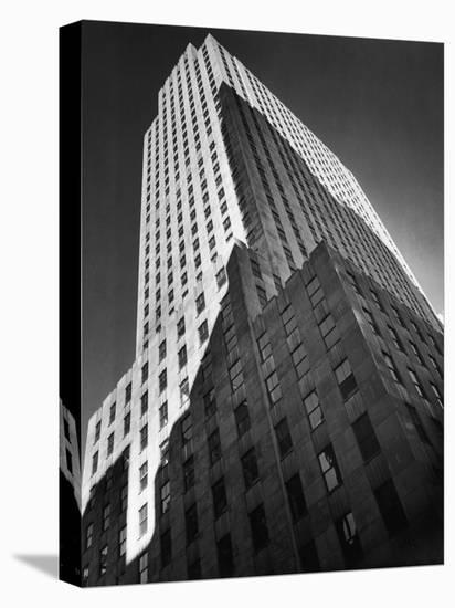9 Rockefeller Plaza, Which Housed Time Editorial Offices from 1938-1960-Margaret Bourke-White-Stretched Canvas Print